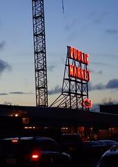 Night at the Market (incidencematrix) Tags: seattle sign night washington neon market pikes