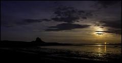 HolyMoonrise (DGP76) Tags: moon castle night clouds island coast time holy northumberland moonrise coastline lindisfarne