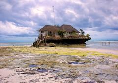 The Rock Restaurant, Zanzibar (Rod Waddington) Tags: ocean africa beach rock tanzania restaurant african indian afrika zanzibar afrique therockrestaurant