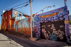 Colorful Valparaiso (v_kalathil) Tags: chile street streetart color southamerica mural colorful unesco valparaso cl valpo regindevalparaso