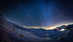 Mountain Night (Woidfeeee) Tags: winter snow mountains alps night stars landscape austria krnten milkyway