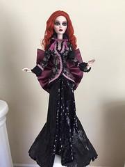 Dark Dreams Evangeline (Saturday Morning ToyZ) Tags: light black dark eclipse doll candle wilde gothic goth skirt jacket dreams imagination ghastly evangeline in tonner