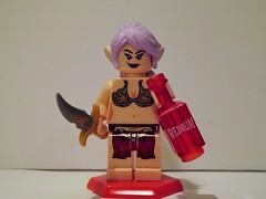 Elf out for Revenge (Nilbog Bricks) Tags: girl female lego elf lotr fantasy murder minifig custom hobbit redrum minifigures brickarms brickforge