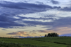 Grande-Rivire sunset on the fields (Danny VB) Tags: flowers trees sunset canada green grass clouds canon fence landscape spring quebec farm april fields printemps 6d granderivire canoneos6d