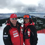 Halby and Jim Parsons Teck U16 Open SL at Grouse Mountain, March 4-6/16 PHOTO CREDIT: Maria Sederholm