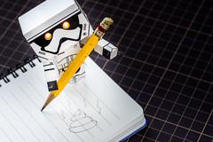 #Impressionism (David C W Wang) Tags: white black pencil notebook toy impressionism poo act         danboard   sonya7ii sel90m28g