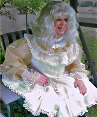 Sissy (jensatin4242) Tags: chiffon sissy transvestite taffeta crossdresser frilly jensatin