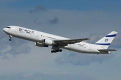 El Al Boeing 767 4X-EAL (j.borras) Tags: barcelona airplane al being bcn el takeoff runway spotting 767 departing lebl
