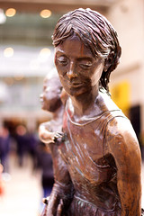 Mother and child statue (cchana) Tags: sculpture woman baby statue proud lady bronze shopping outside happy child bokeh mother figure figurine shoppers uxbridge intu thechimes intuuxbridge