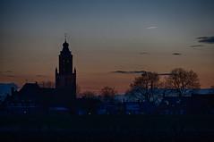 Sunset church (Frank van Eck) Tags: sunset netherlands flickr dusk bluehour nl hdr gelderland huissen