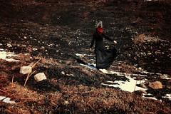 Scorched earth (stefaniebst) Tags: mountain selfportrait fairytale montagne self autoportrait earth fineart burnt terre brl conceptual tale fineartphotography scorched conte conceptualphotography conceptphoto moderntale