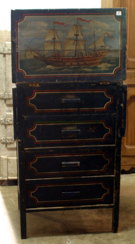 Secretary Style Decorated Chest - $176.00 (Sold August 28, 2015)