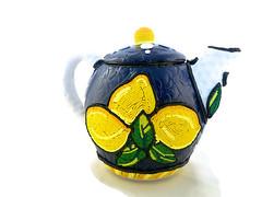 Lemon teapot (higirlsdesigns) Tags: italian handmade lemons clay teapot polymer pcagoe