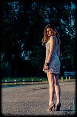 Jeanne by Buaillon summer 2011 (xavier buaillon) Tags: summer woman beautiful beauty look french dawn back model nikon european looking dress legs young lookingback whitewoman d700 buaillon