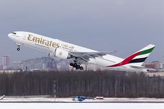 Departing to Dubai (Oleg Botov) Tags: sky plane airport dubai aircraft aviation led emirates boeing saintpetersburg 777 ulli spotting airliners avia  planespotting boeing777  b777 pulkovo    avgeek  planeporn   crewlife slavniyoleg
