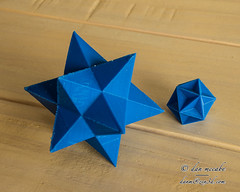When I Grow Up, ... (zen3d ☯) Tags: geometry pentagram math mathematics pentagon dodecahedron polyhedron polyhedra euler 3dprinting polyhedral 3dprinted smallstellateddodecahedron greatdodecahedron eulerformula