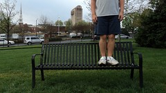 Bench Monday: Barnet Edition (pikespice) Tags: headless bench geotagged widescreen geotag spartanburg decapitated hbm barnettpark 10millionphotos barnetpark benchmonday