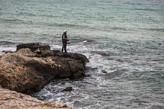 Pesca. (Alessandro Photo - ALPH) Tags: mare uomo pietre da lungomare pesca spiaggia bari canna vento scogli schiuma litorale palese