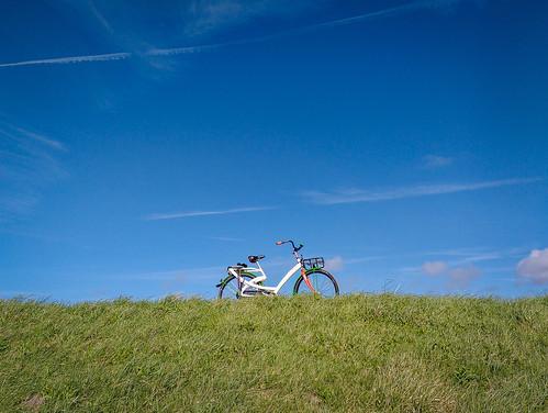 Bike on a dyke