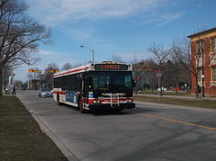 Nova D40LF #7332 on the 188 Kipling South Rocket (Edward B.'s Pictures) Tags: nova ttc express torontoontario torontotransitcommission newtoronto d40lf 7332 colonelsamuelsmithpark etobicokeontario 188kiplingsouthrocket