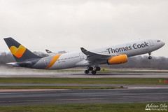 Thomas Cook --- Airbus A330-200 --- G-MDBD (Drinu C) Tags: man plane aircraft aviation sony airbus dsc a330 thomascook egcc a330200 gmdbd hx100v adrianciliaphotography