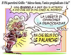 GRILLO querelato (Moise-Creativo Galattico) Tags: pd vignette satira attualit moise giornalismo grillo querela editoriali moiseditoriali editorialiafumetti m5s