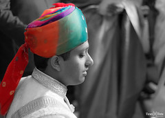 Colorful Turban (kshitiz.sharma81) Tags: family wedding india groom marriage turban selectivecoloring