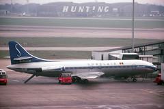 Sabena stand-in (ƒliçkrwåy) Tags: airport aircraft kodachrome airliner sud lhr caravelle egll sobelair oosrd