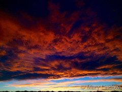 April 6, 2016 - Clouds of red and orange. (Mary Lindow)