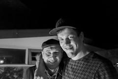 Father and son (bwijnmaalen) Tags: birthday party blackandwhite netherlands night paul fire jeroen father hats son explore goodtimes bestfriends x100 xphotographer xserie x100t