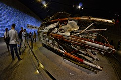 fisheye photography: antenna of the old wtc building at the 911 memorial museum in nyc (norlandcruz74) Tags: world museum digital lens photography nikon memorial photographer angle 911 wide center 11 september fisheye cruz filipino wtc 8mm trade ultra pinoy bower dx norland d5100