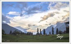 Aran Kel 27 (sajid sharif) Tags: travel pakistan sunset house mountain clouds landscape shadows azadjamukashmir arankel sajidsharif