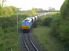60074 Oakleigh Sidings 17.04.09 (Neil Altyfan - Railway Photography) Tags: spirit cancer trust limestone tug loaded oakleigh teenage northwich sidings class60 tunstead 60074 170409 6f05