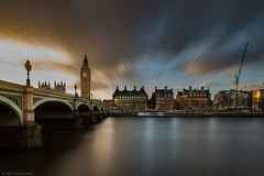 The passage of time (Anthony P.26) Tags: road city longexposure greatbritain travel bridge winter sunset england sky sunlight blur building london english clock water westminsterabbey skyline architecture clouds canon buildings river outside lights evening waves cityscape waterfront time unitedkingdom britain crane outdoor citylife bigben arches landmark structure clocktower southbank british ripples lamps span westminsterbridge palaceofwestminster sunglow travelphotography capitalcity famousplaces cloudblur canon1585mm canon70d elizabethtowerbigben