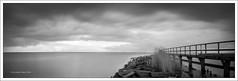 edam harbour, before the storm II (Andibart) Tags: sea blackandwhite bw seascape landscape blackwhite meer pinhole sw edam standdevelopment seascpae rodinal1100standentwicklung realitysosubtle realitysosubtle6x17 fujiacros100mf