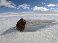 Meteorite in Antarctica (sjrankin) Tags: ice edited antarctica nasa meteorite icefield 18april2016