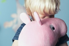 Best friends (Mark J P) Tags: boy toy pig hug toddler child play friendship peppapig plushy peppa