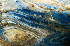 Rock Abstract (BrettOssmanPhotos) Tags: blue brown abstract nature colors rock closeup outdoors objects brett unusual characteristics aspect lanis ossman brettossman lanisbrettossman lanisossman