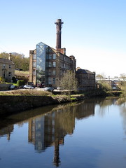 Fearnleys Mill Cooper Bridge Huddersfield (Barrytaxi) Tags: reflection river photoblog calder photoaday 365