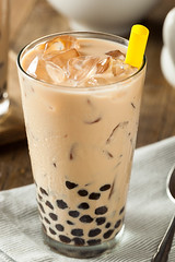 Homemade Milk Bubble Tea with Tapioca (brent.hofacker) Tags: new party summer food brown cold ice glass asian milk healthy mixed bubbletea natural tea drink sweet beverage chinese taiwan straw balls tasty fresh pearls sugar delicious trendy bubble pearl boba cubes tapioca refreshing milky liquid fruity taro blend milktea tapiocapearls refreshment froth pearlmilktea bubblemilktea