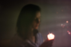 Indistinct - 16/52 (jrobblee) Tags: portrait selfportrait me beauty female canon women candle pinhole future 52weeks 70d