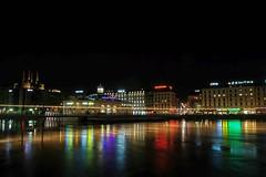 Night in Geneva (Jurek.P) Tags: city night river lights switzerland cityscape nightshot geneva cityskyline nightcity genewa jurekp sonya500
