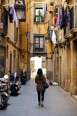Las Ramblas (amoeboid) Tags: barcelona door windows streets spain alley hanging lasramblas fujifilmxt10