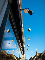 85B/386 Light Reflections - 366 Project 2 - 2016 (dorsetpeach) Tags: blue light england reflection lamp bluesky dorset 365 dorchester 2016 366 aphotoadayforayear 366project second365project
