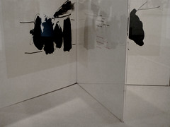 A12325 / reflecting on motherwell in gallery 11 (janeland) Tags: sanfrancisco california deyoungmuseum september desaturated 70 levels 94118 2015 famsf robertmotherwell