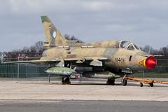 Ex German Air Force Sukhoi Su-22 M-4K 98+09 (Vortex Photography - Duncan Monk) Tags: paris france ex museum de force aircraft aviation air jet muse camo le german static et aerospace lair gaf bourget sukhoi m4k su22 lespace 9809
