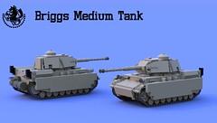 Briggs Medium Tank (Matthew McCall) Tags: anime army model war gun tank lego military armor weapon vehicle combat moc alchemist fullmetal