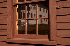 Daniel Webster birthplace (DjD-567) Tags: reflection window architecture farm newengland nh historic danielwebster