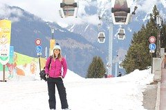 Courchevel France (Kiyomivillasana) Tags: snow france girl snowboarding lift roxy courchevel blonce