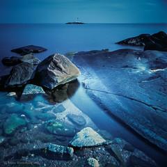 Isle of Arran, Scotland (ShimmeringGrains.com) Tags: blue sea seascape 6x6 film analog mediumformat square landscape scotland outdoor 120film hasselblad coastal scanned e6 isleofarran kvadrat scannad hasselblad503cx chromefilm leefilter fujivelviarvp50 mellanformat e6diy tetenalcolortece6kit e6developedathome tetenale6kitforhomedevelopment isleofarran2014 leendhardgrade